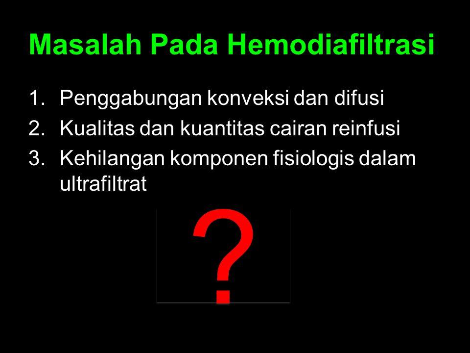 Masalah Pada Hemodiafiltrasi