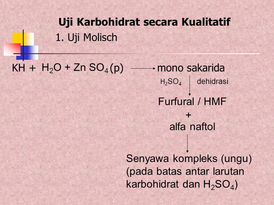 Uji Karbohidrat secara Kualitatif 1. Uji Molisch