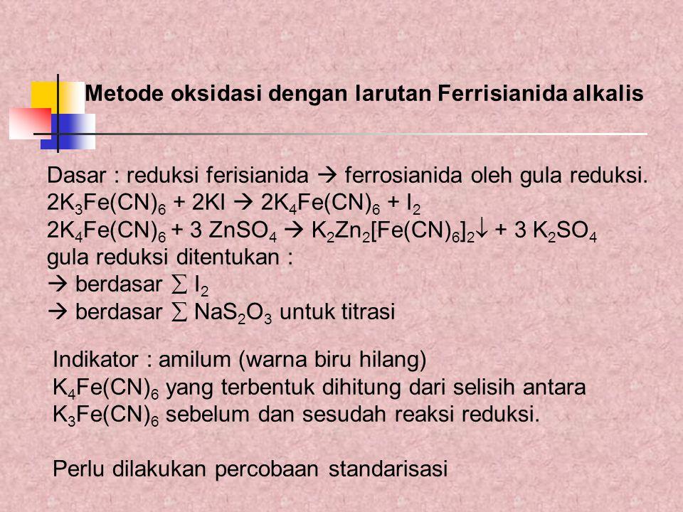 Metode oksidasi dengan larutan Ferrisianida alkalis