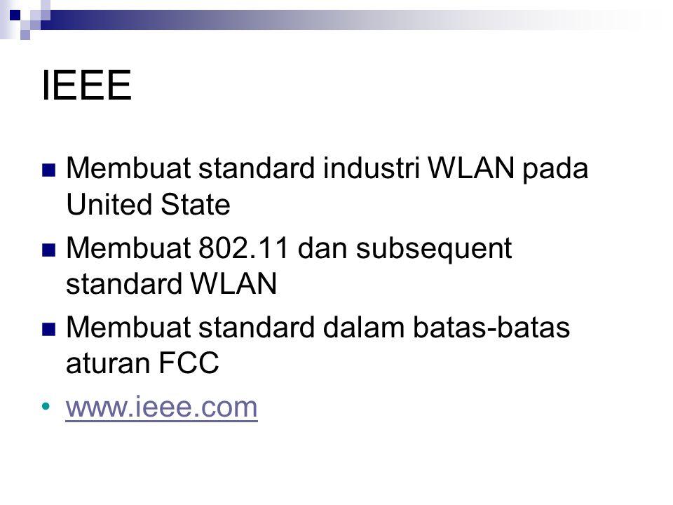 IEEE Membuat standard industri WLAN pada United State