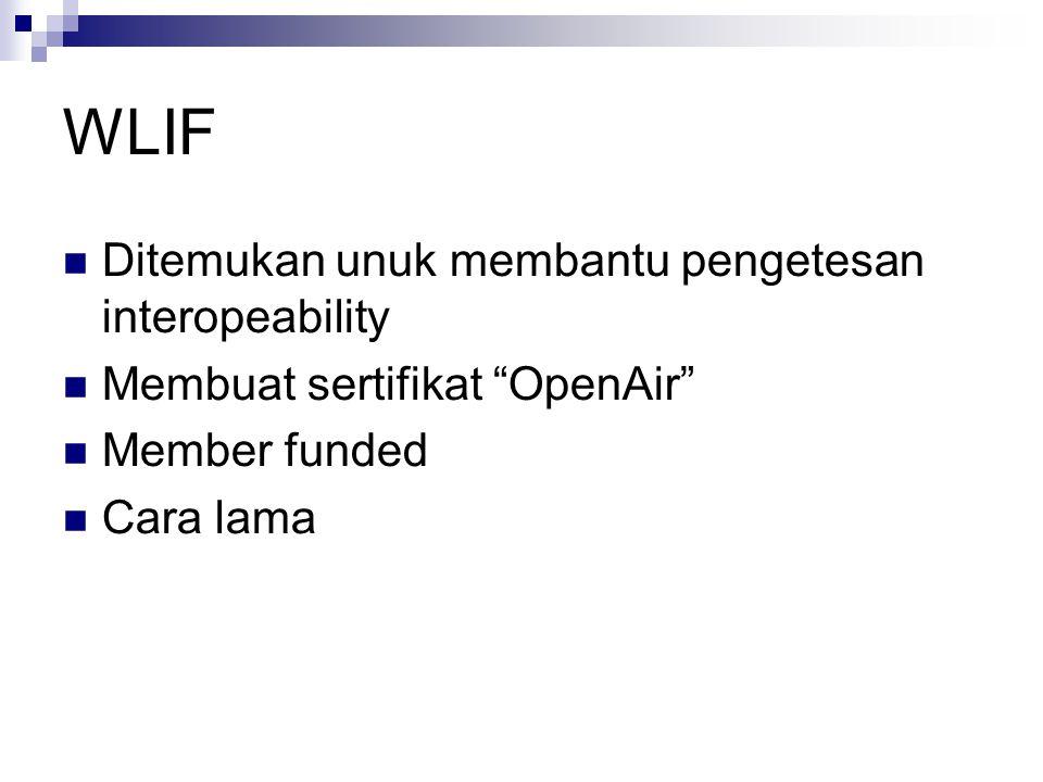 WLIF Ditemukan unuk membantu pengetesan interopeability