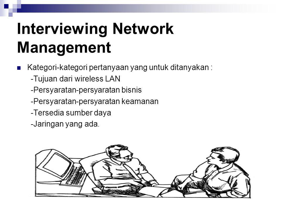 Interviewing Network Management