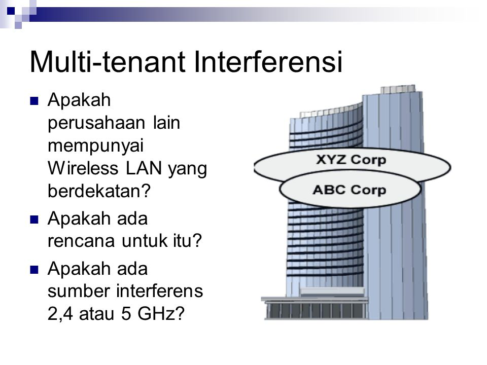 Multi-tenant Interferensi