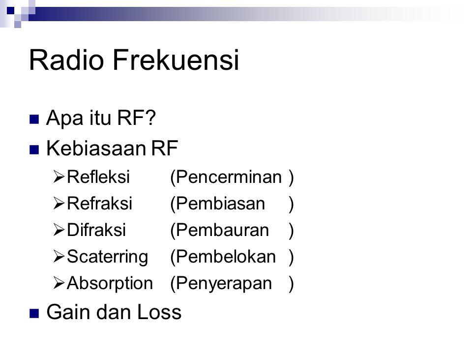 Radio Frekuensi Apa itu RF Kebiasaan RF Gain dan Loss