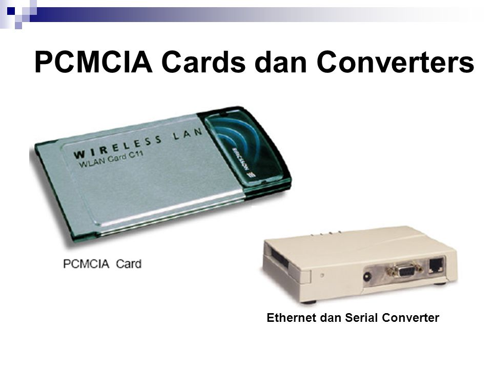 PCMCIA Cards dan Converters