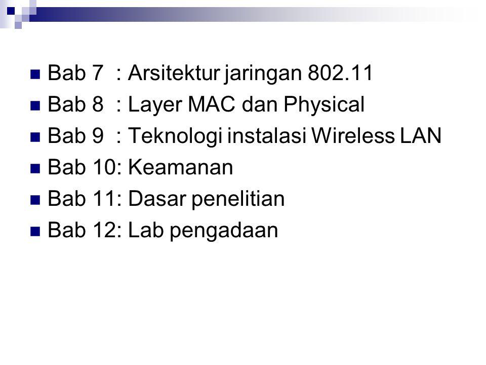 Bab 7 : Arsitektur jaringan 802.11