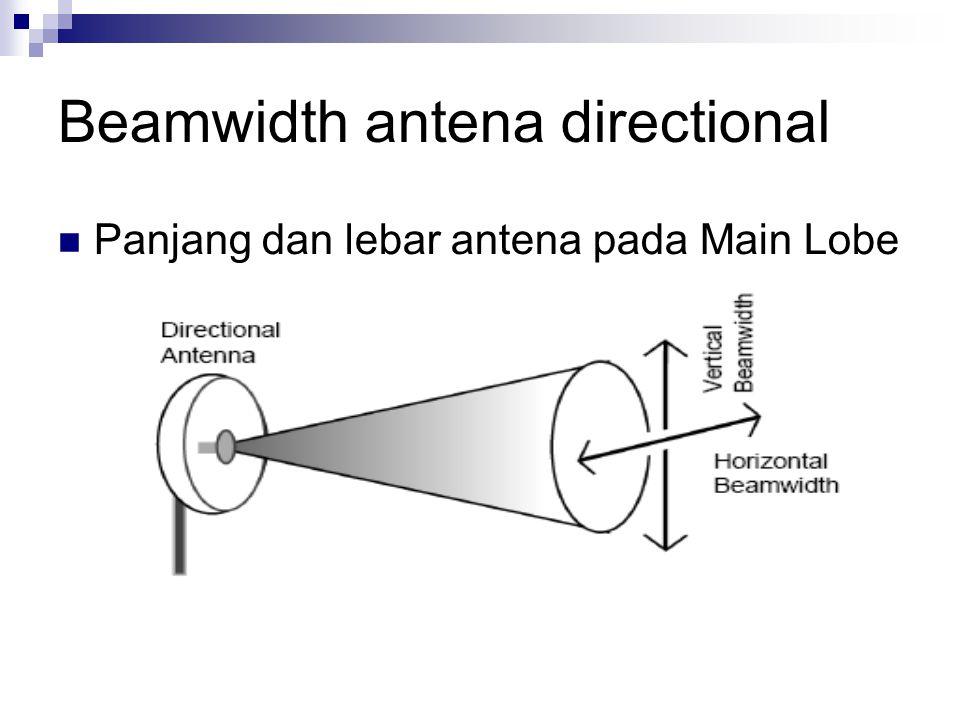 Beamwidth antena directional