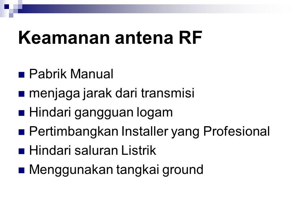 Keamanan antena RF Pabrik Manual menjaga jarak dari transmisi