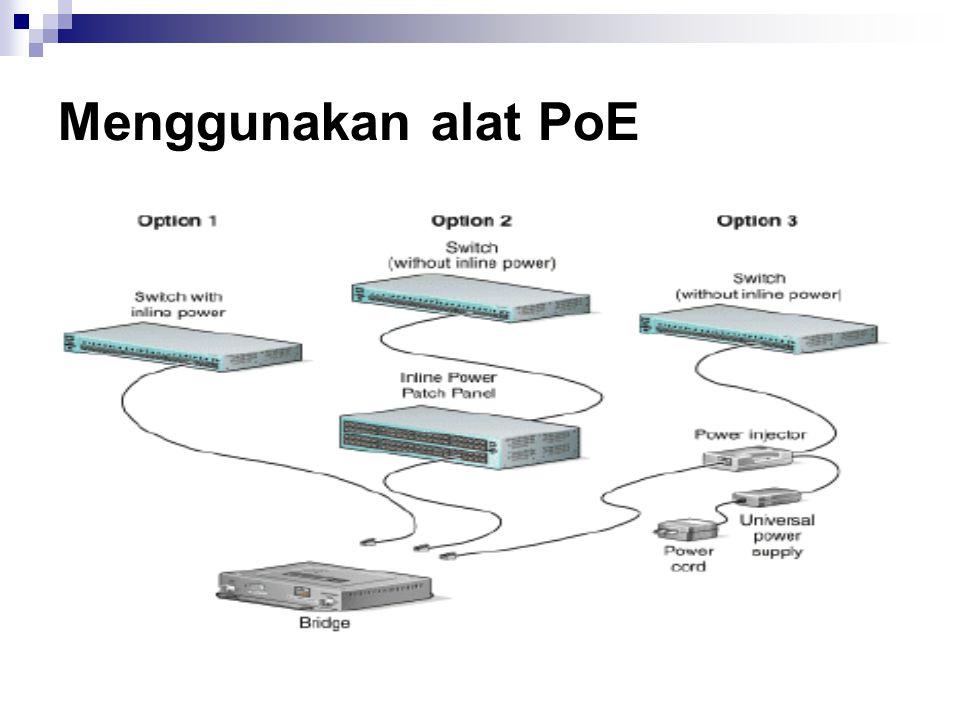 Menggunakan alat PoE