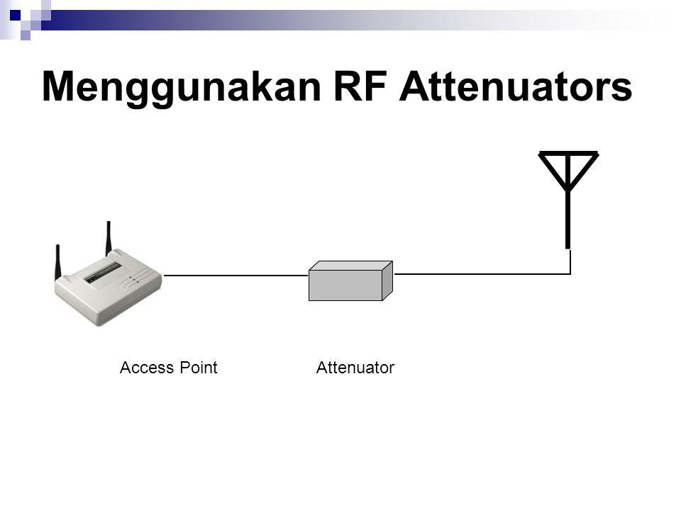 Menggunakan RF Attenuators