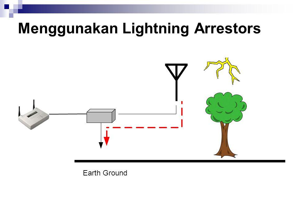 Menggunakan Lightning Arrestors