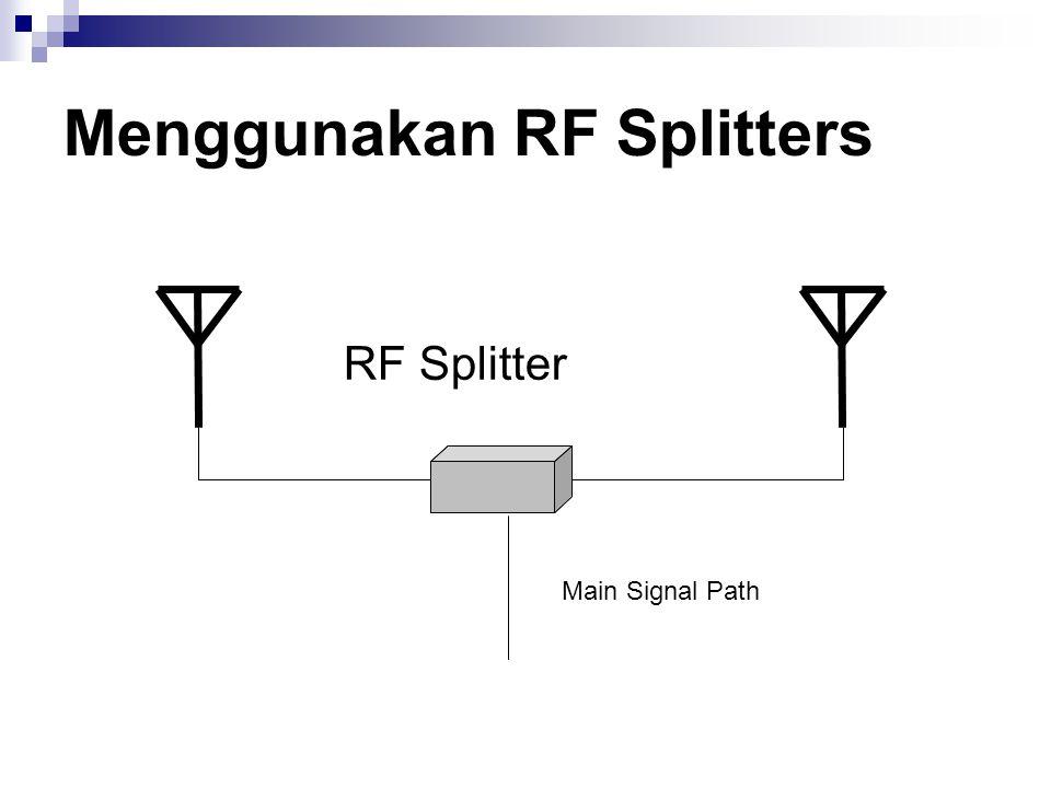 Menggunakan RF Splitters