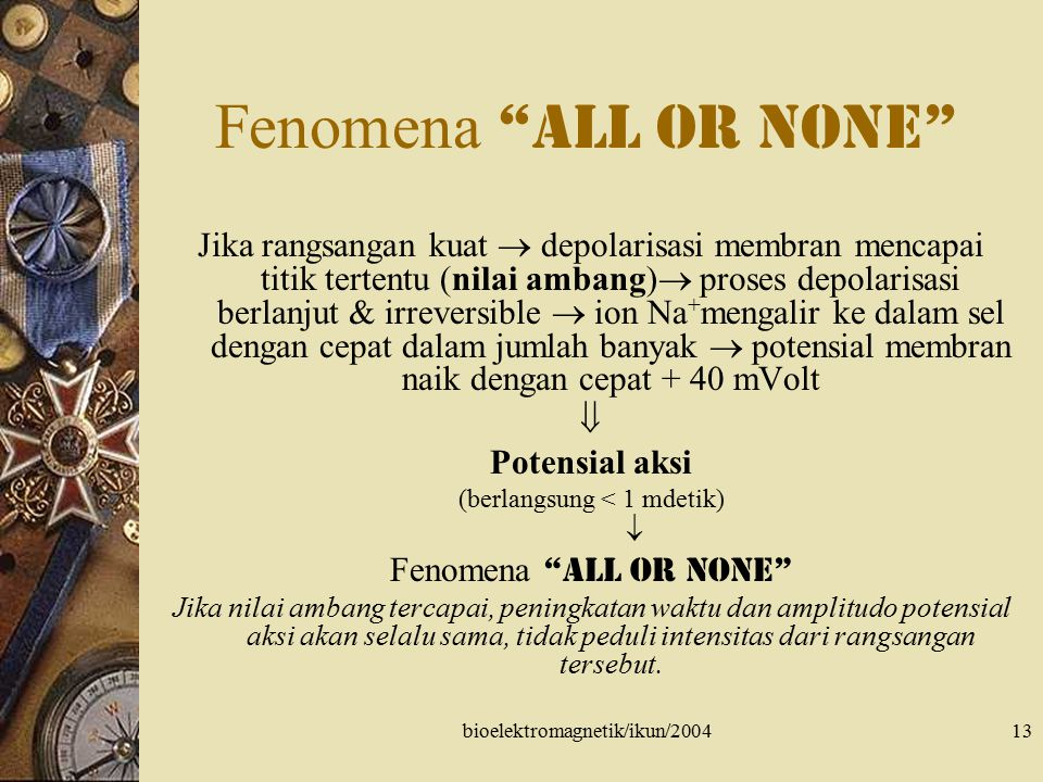 Fenomena all or none