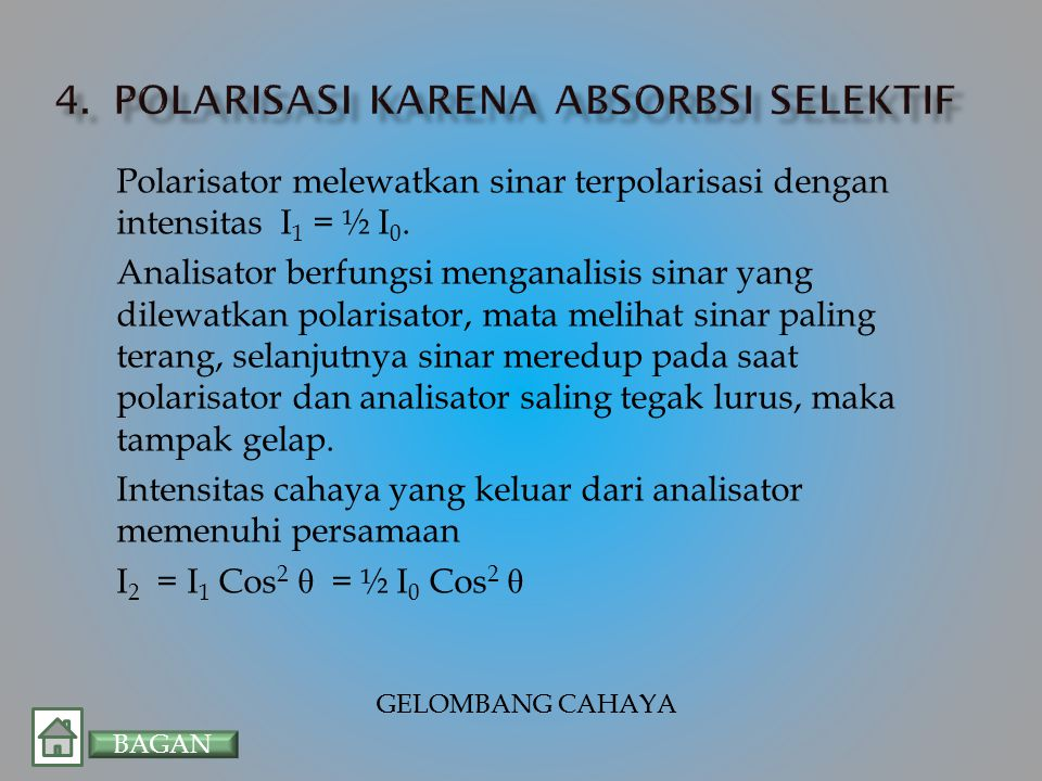 Polarisasi karena absorbsi selektif