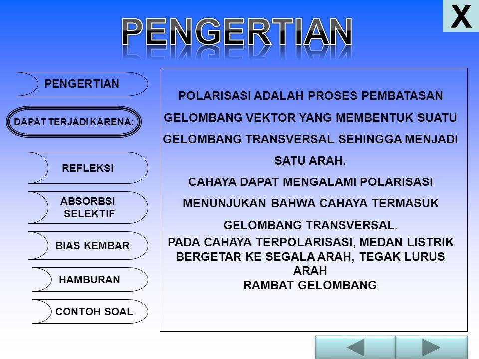 PENGERTIAN POLARISASI ADALAH PROSES PEMBATASAN