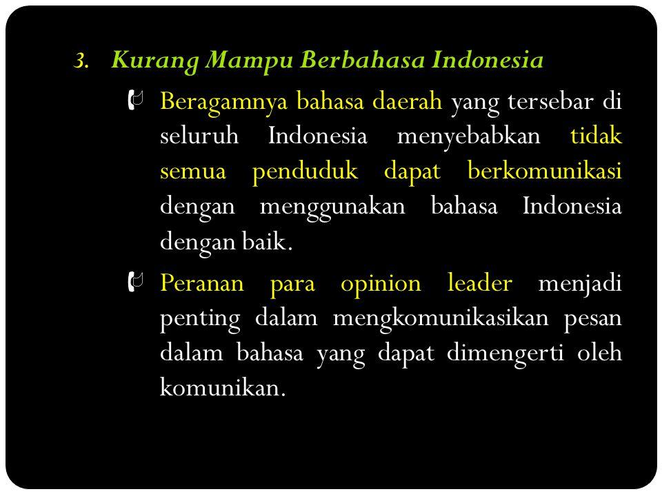 Kurang Mampu Berbahasa Indonesia