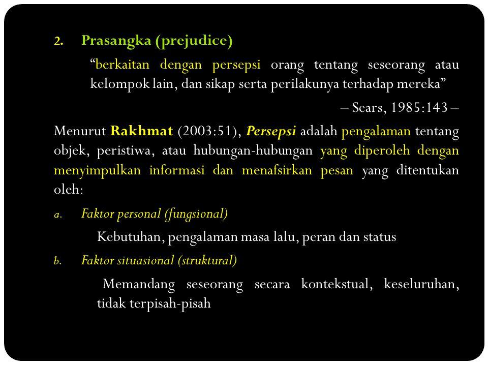 Prasangka (prejudice)