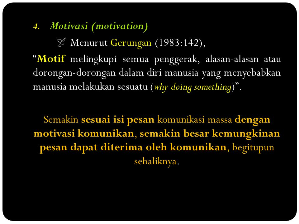 Motivasi (motivation)