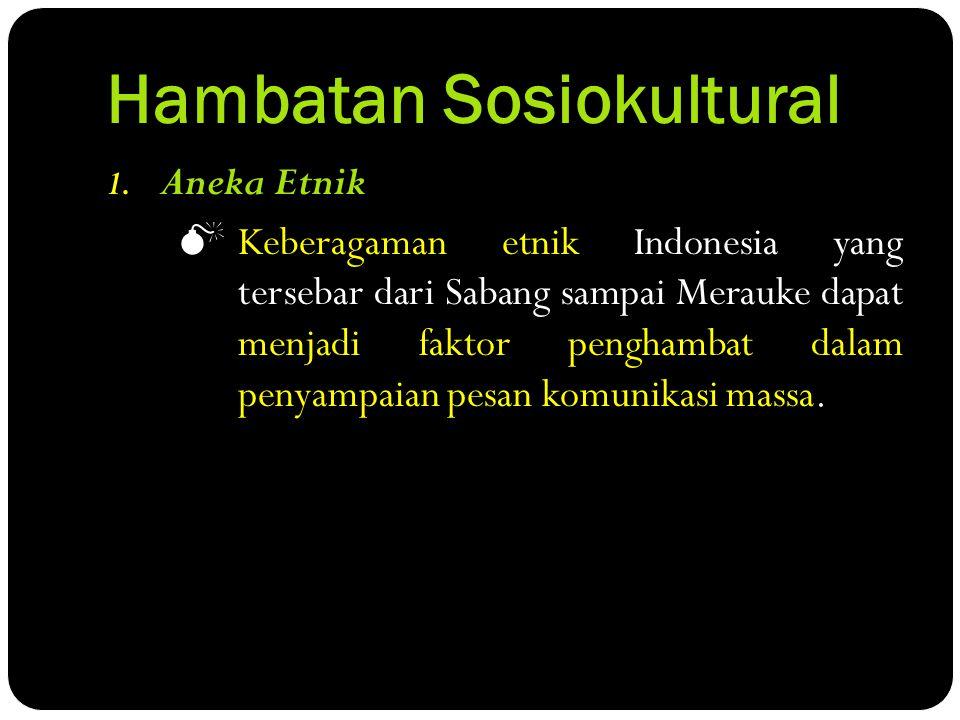 Hambatan Sosiokultural