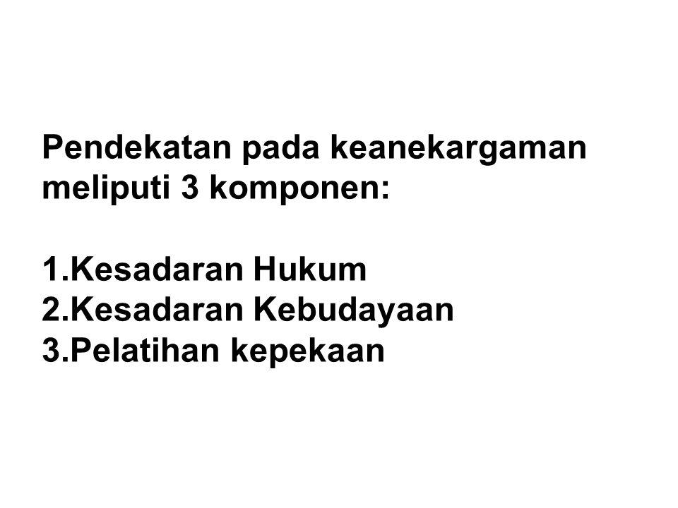 Pendekatan pada keanekargaman meliputi 3 komponen:
