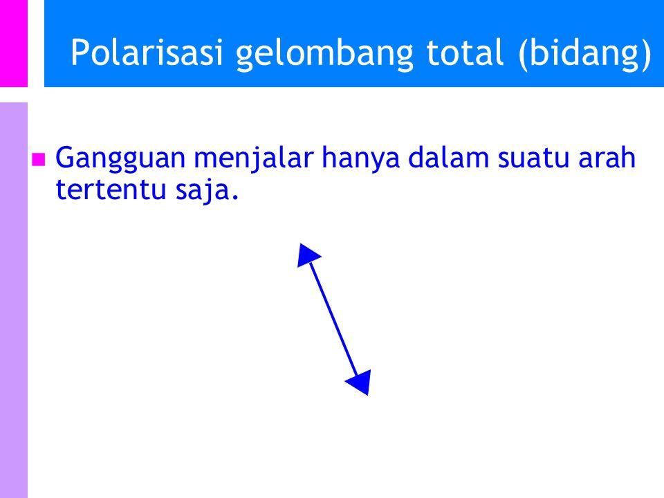 Polarisasi gelombang total (bidang)