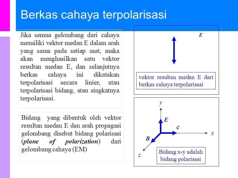Berkas cahaya terpolarisasi