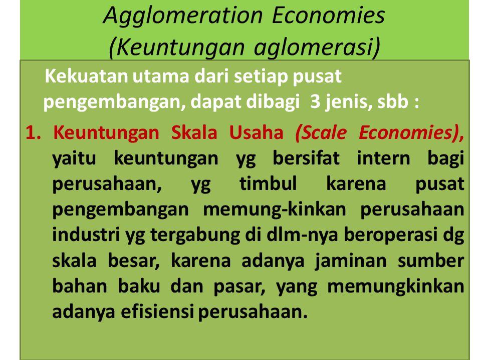 Agglomeration Economies (Keuntungan aglomerasi)