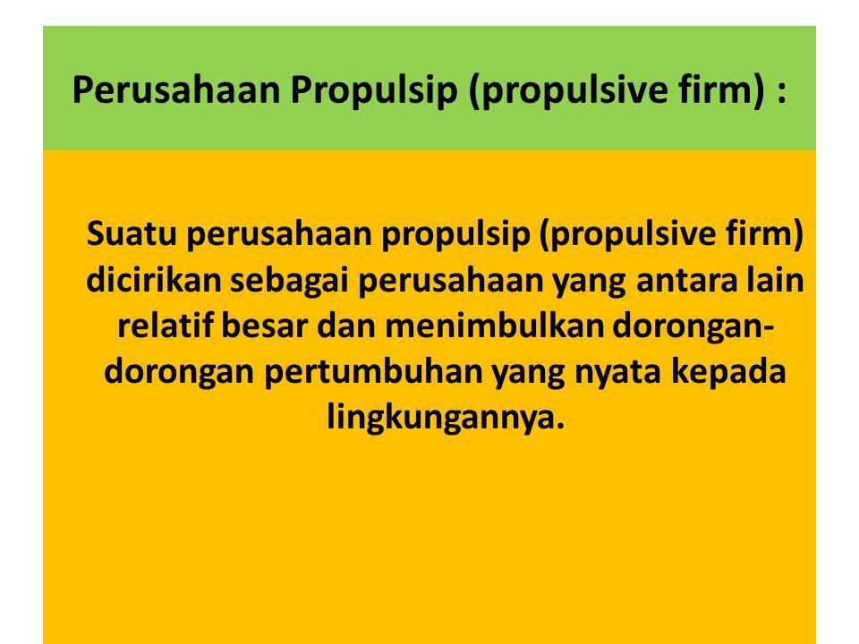 Perusahaan Propulsip (propulsive firm) :