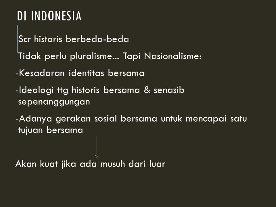 Di Indonesia Scr historis berbeda-beda