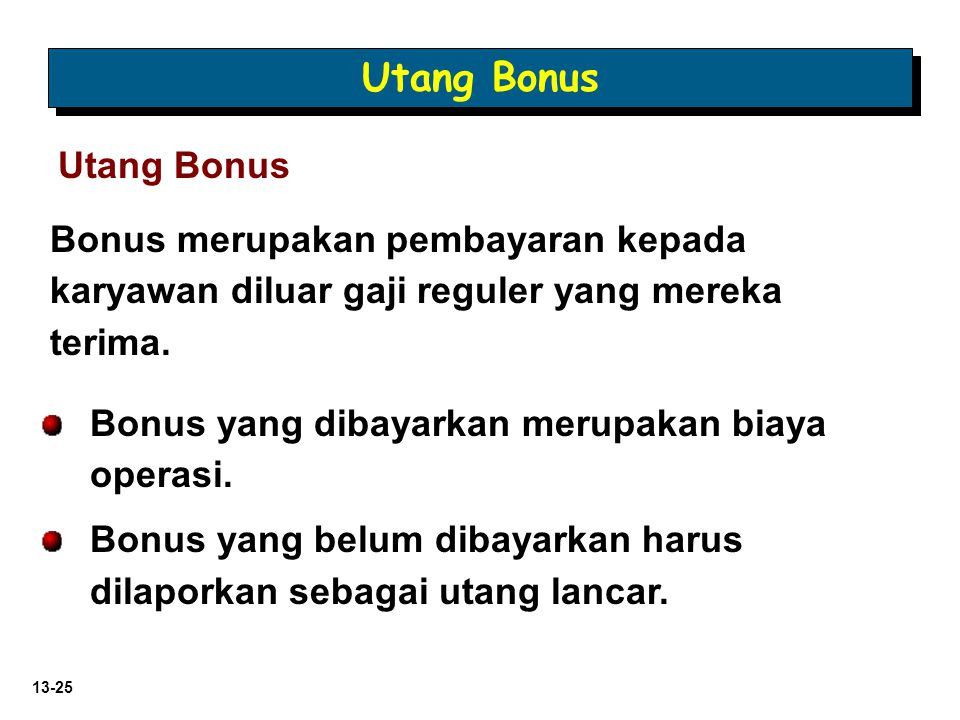Utang Bonus Utang Bonus