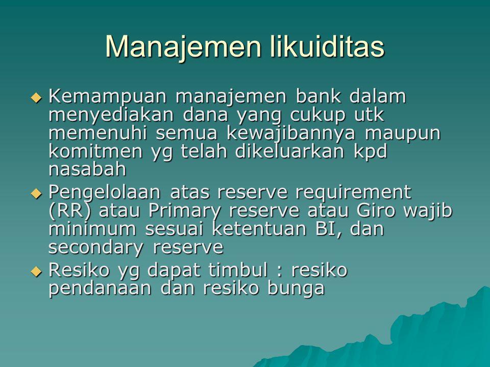 Manajemen likuiditas