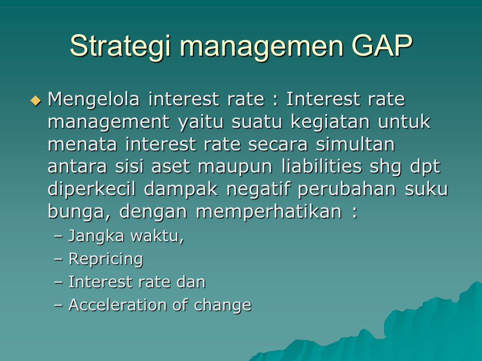 Strategi managemen GAP