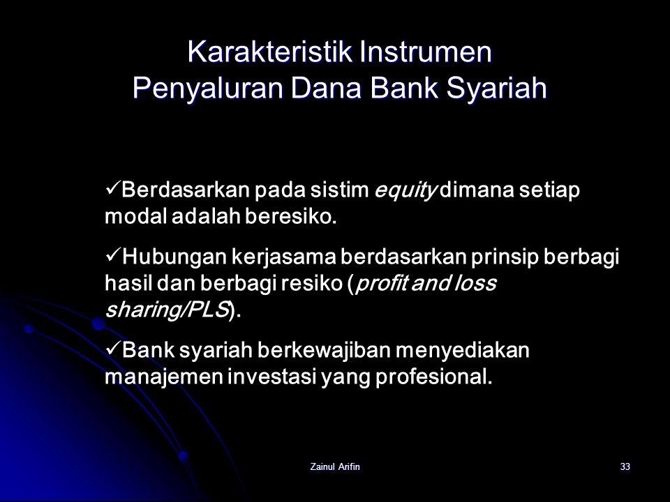 Karakteristik Instrumen Penyaluran Dana Bank Syariah