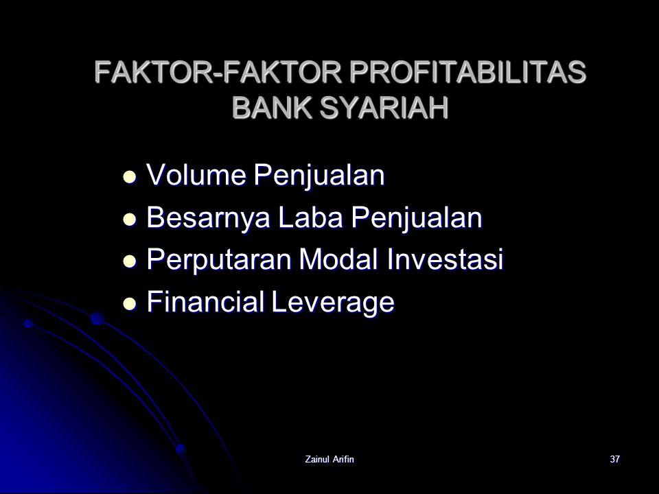 FAKTOR-FAKTOR PROFITABILITAS BANK SYARIAH