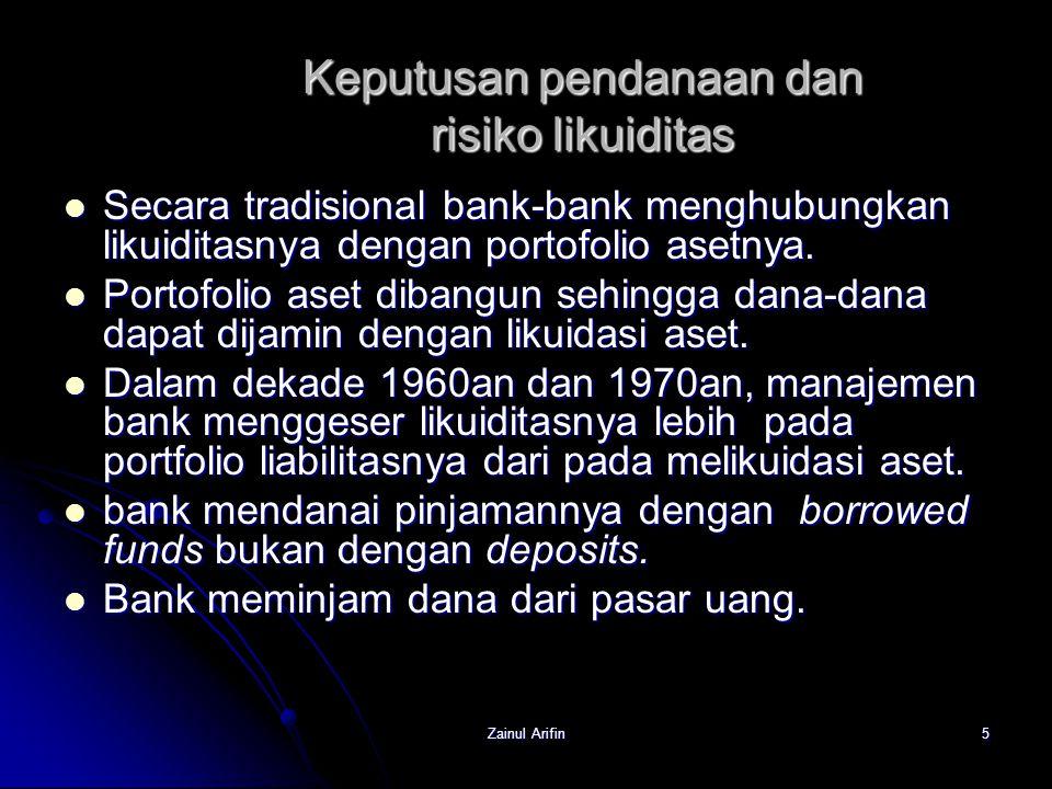 Keputusan pendanaan dan risiko likuiditas