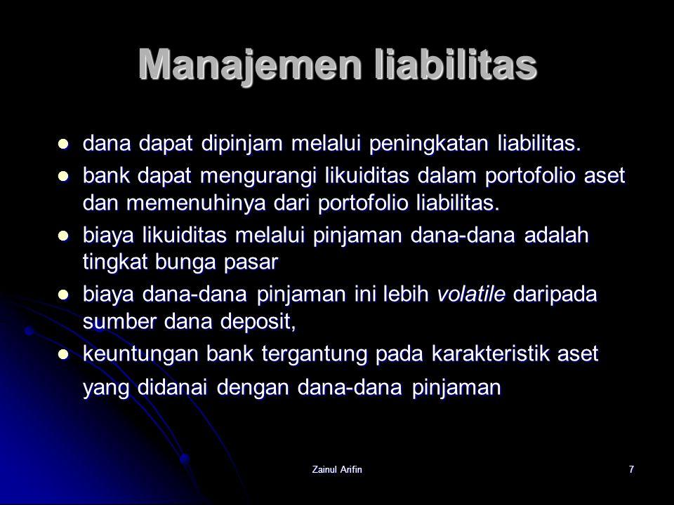 Manajemen liabilitas dana dapat dipinjam melalui peningkatan liabilitas.