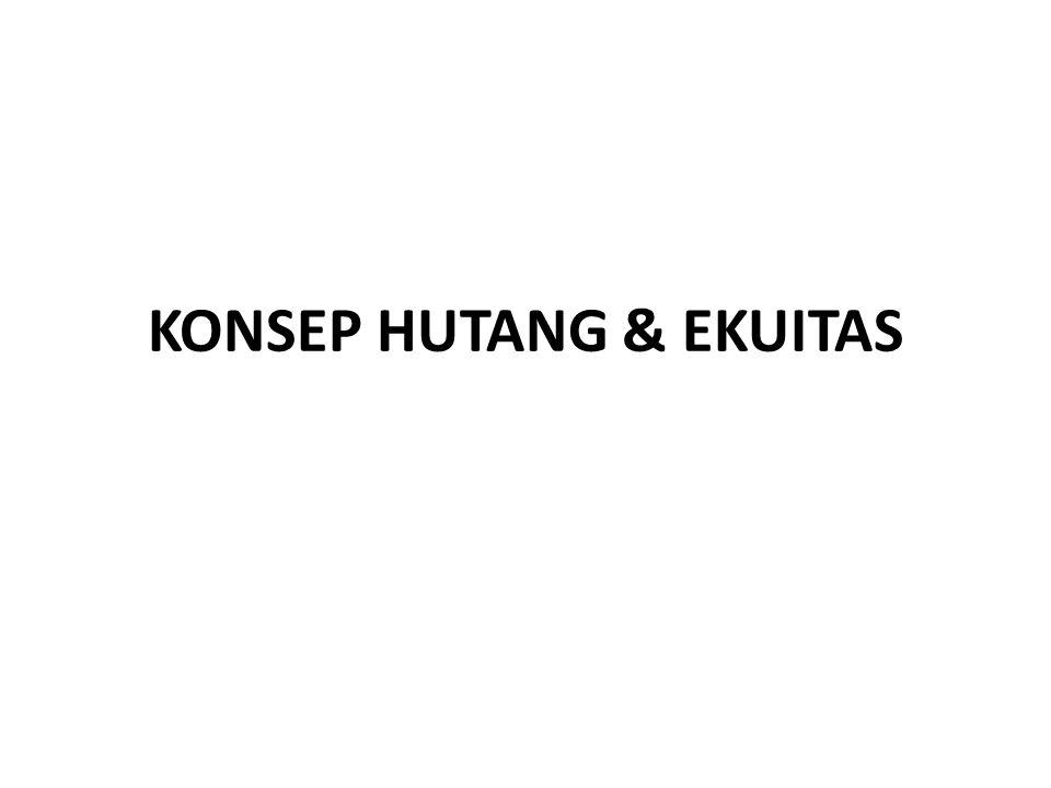KONSEP HUTANG & EKUITAS