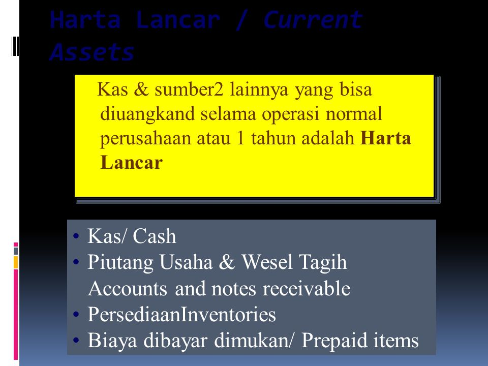 Harta Lancar / Current Assets