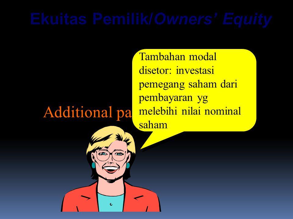 Ekuitas Pemilik/Owners' Equity