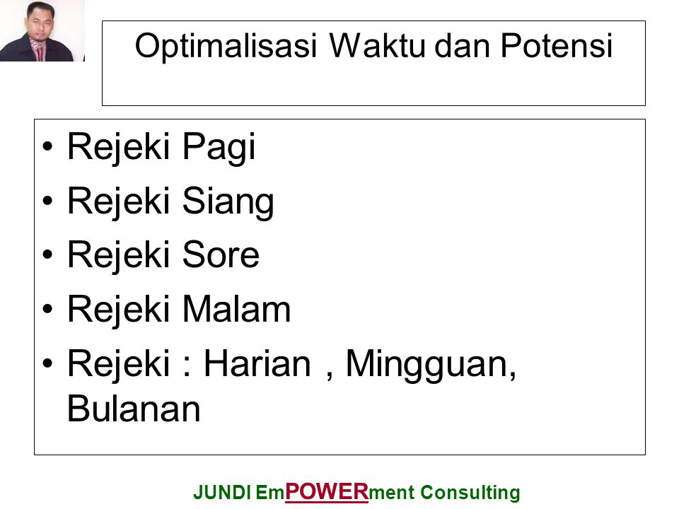 Optimalisasi Waktu dan Potensi