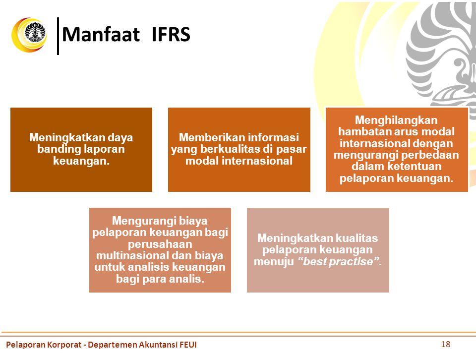 Manfaat IFRS Pelaporan Korporat - Departemen Akuntansi FEUI
