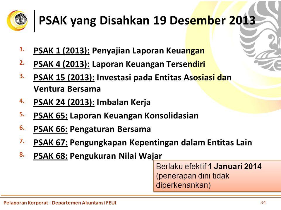 PSAK yang Disahkan 19 Desember 2013