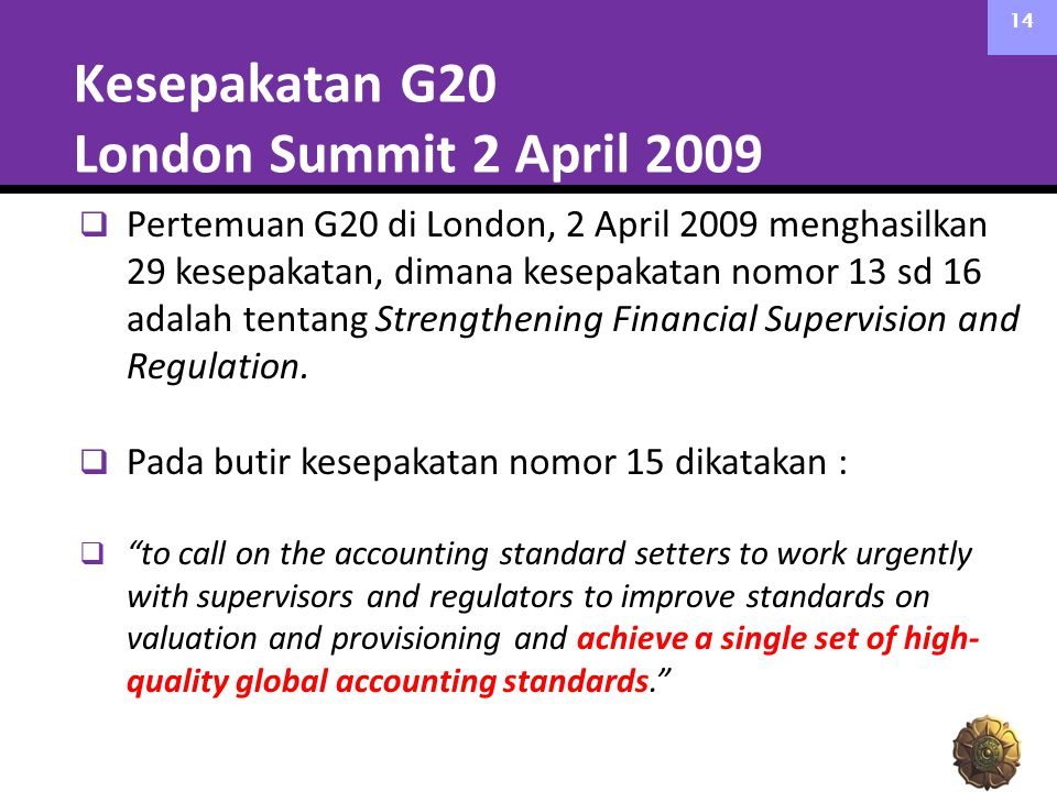 Kesepakatan G20 London Summit 2 April 2009