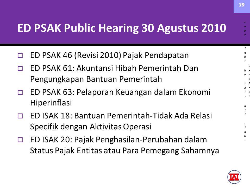 ED PSAK Public Hearing 30 Agustus 2010
