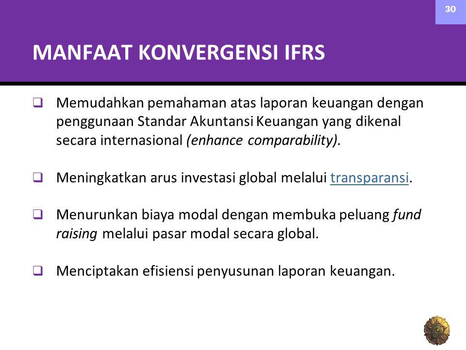 MANFAAT KONVERGENSI IFRS
