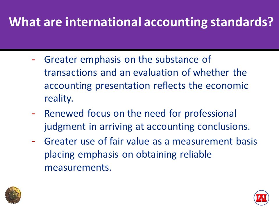 What are international accounting standards