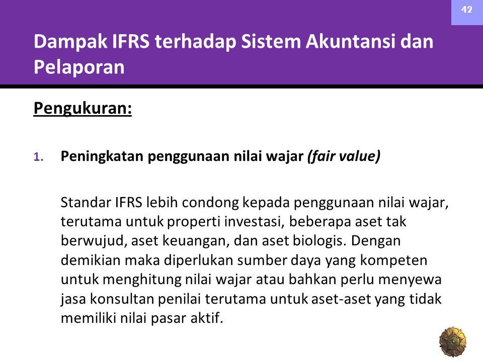 Dampak IFRS terhadap Sistem Akuntansi dan Pelaporan