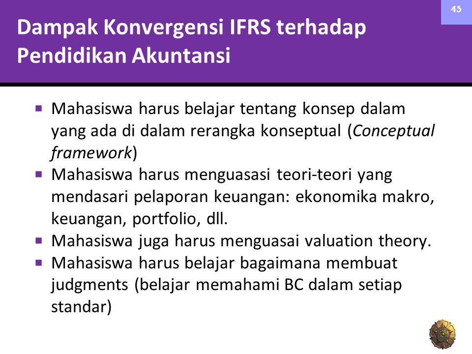 Dampak Konvergensi IFRS terhadap Pendidikan Akuntansi