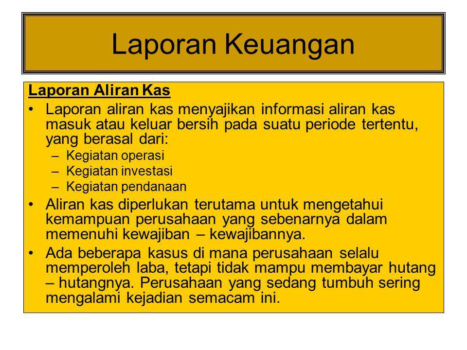 Laporan Keuangan Laporan Aliran Kas
