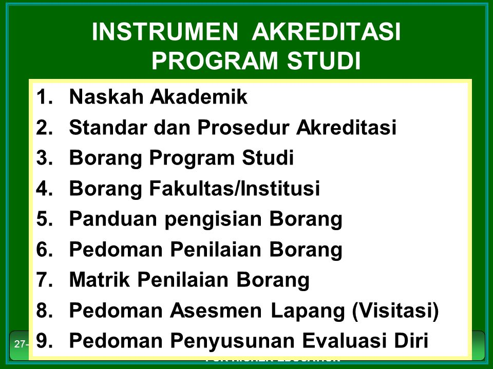 INSTRUMEN AKREDITASI PROGRAM STUDI